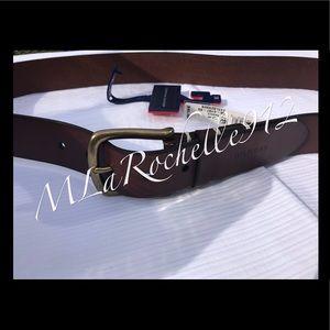 NEW!! Tommy Hilfiger brown leather belt